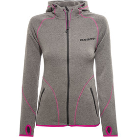 axant Anden Fleece Jas Dames, charcoal grey/fuchsia red